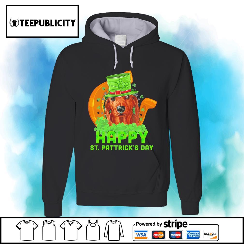 Dachshund Happy St. Patrick's Day s hoodie