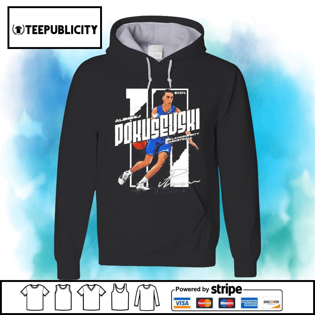 Aleksej Pokusevski signature Oklahoma City basketball s hoodie