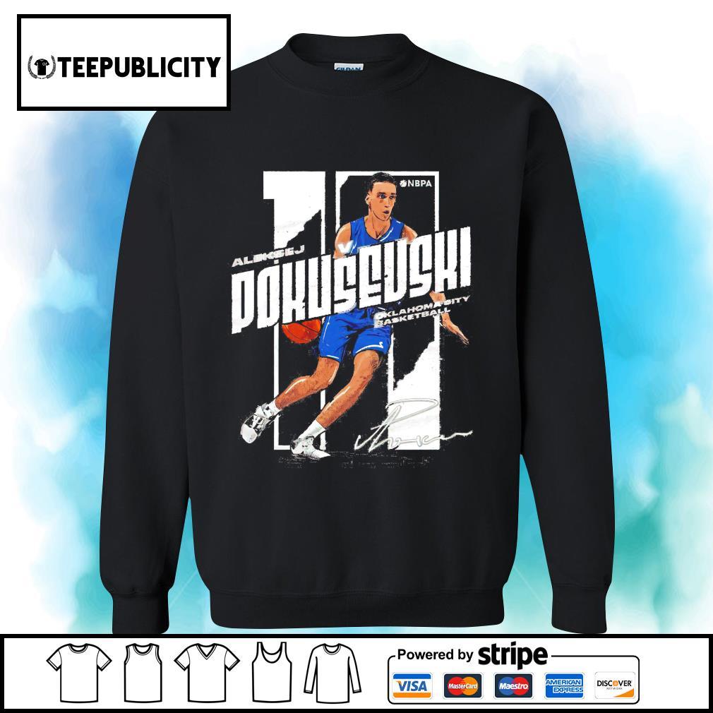 Aleksej Pokusevski signature Oklahoma City basketball s sweater