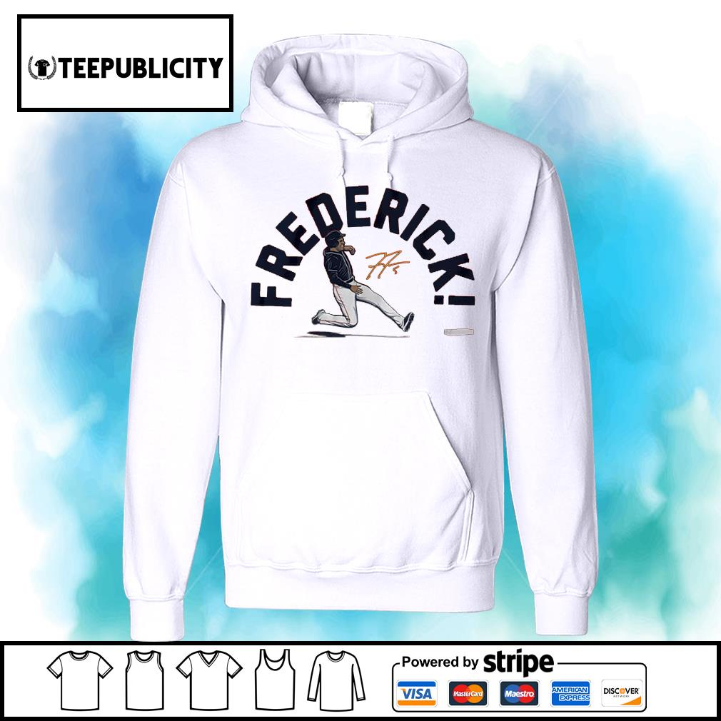 Atlanta baseball Freddie Frederick signature s hoodie