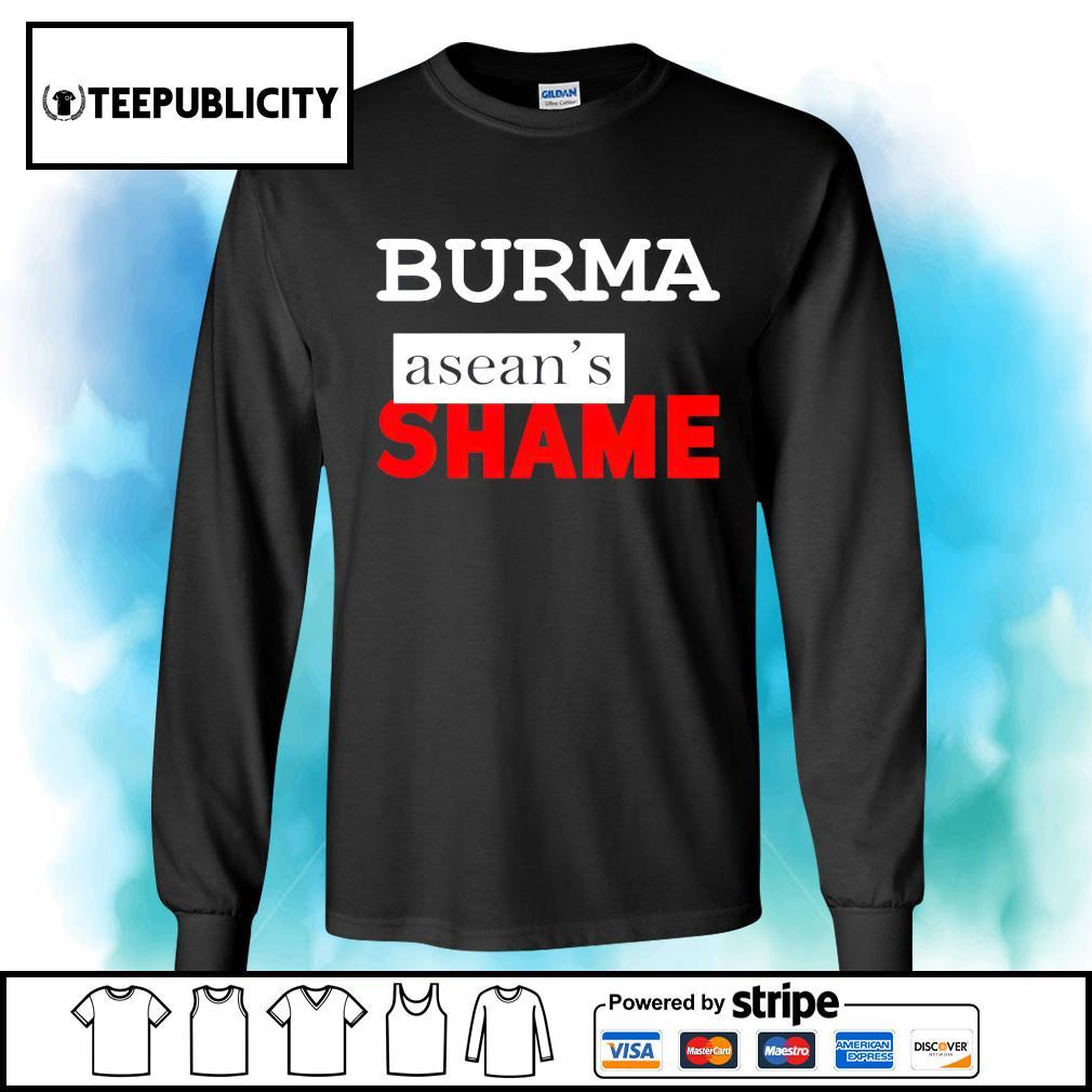 Burma Asean's Shame s longsleeve-tee