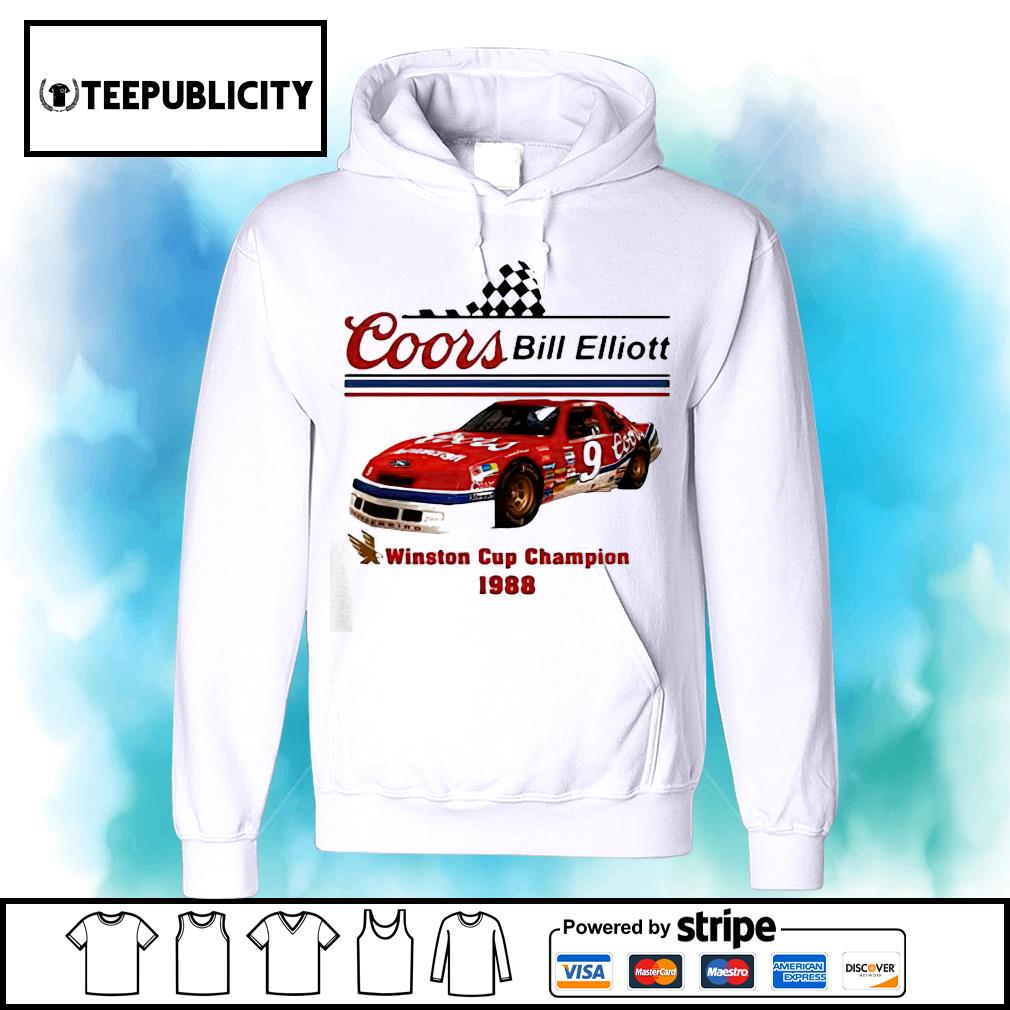 Coors Bill Elliott Winston Cup Champion 1988 s hoodie