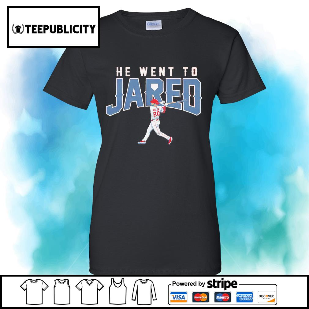 Los Angeles Jared Walsh he went to Jared s v-neck-t-shirt