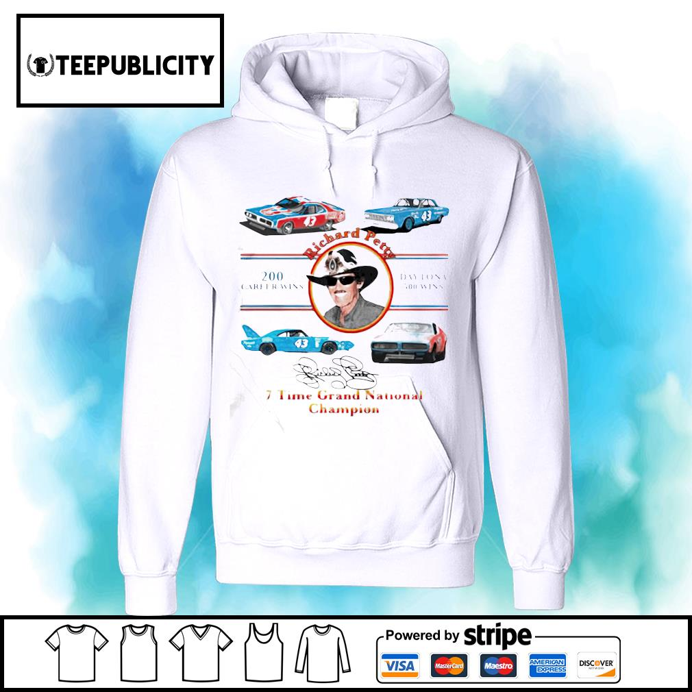 Nascar Richard Petty Time Grand National Champion signature s hoodie