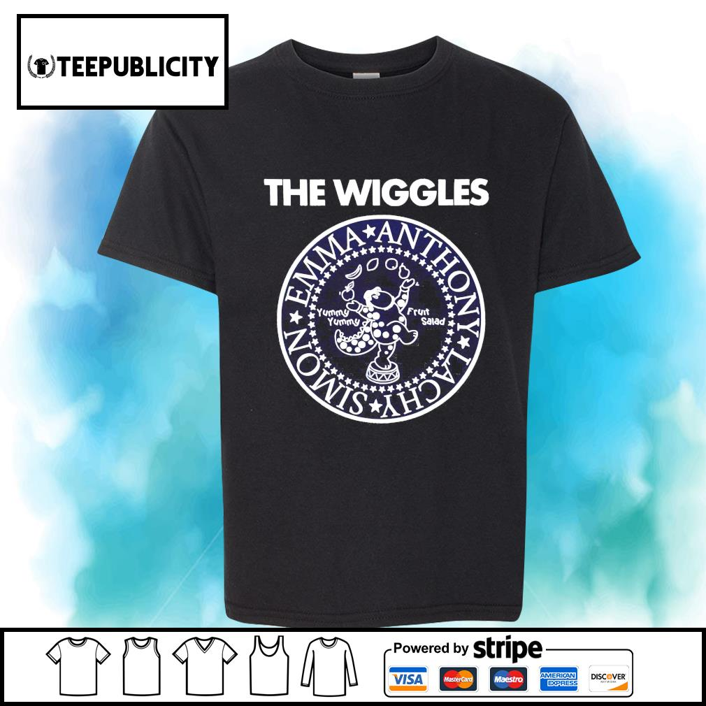 The Wiggles Emma Anthony Lachy Simon shirt