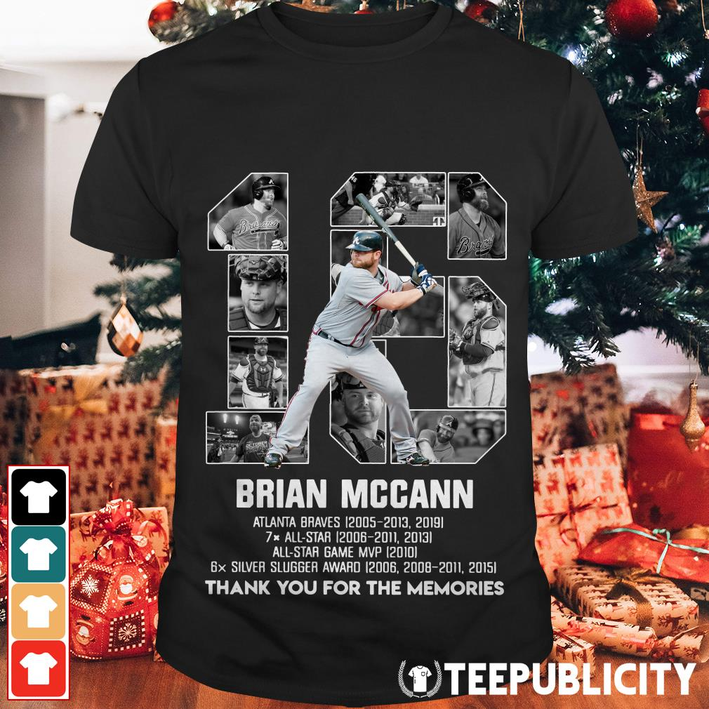 16 Brian Mccann Atlanta Braves thank you for the memories shirt