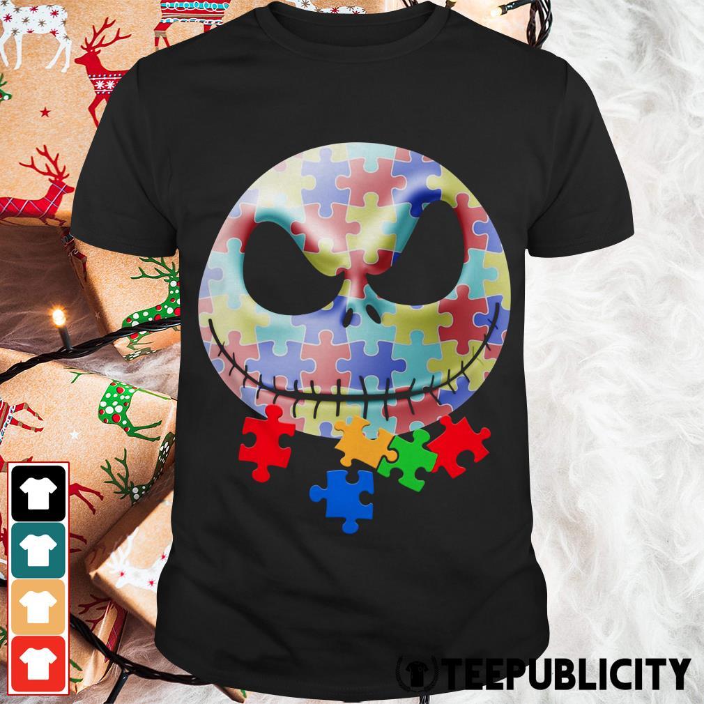 Autism Jack Skellington face shirt