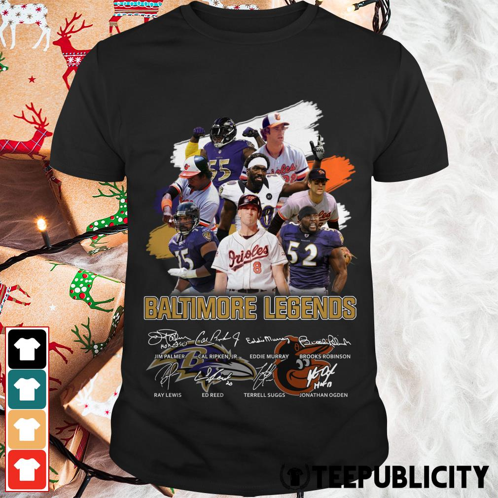 Baltimore legends signatures shirt
