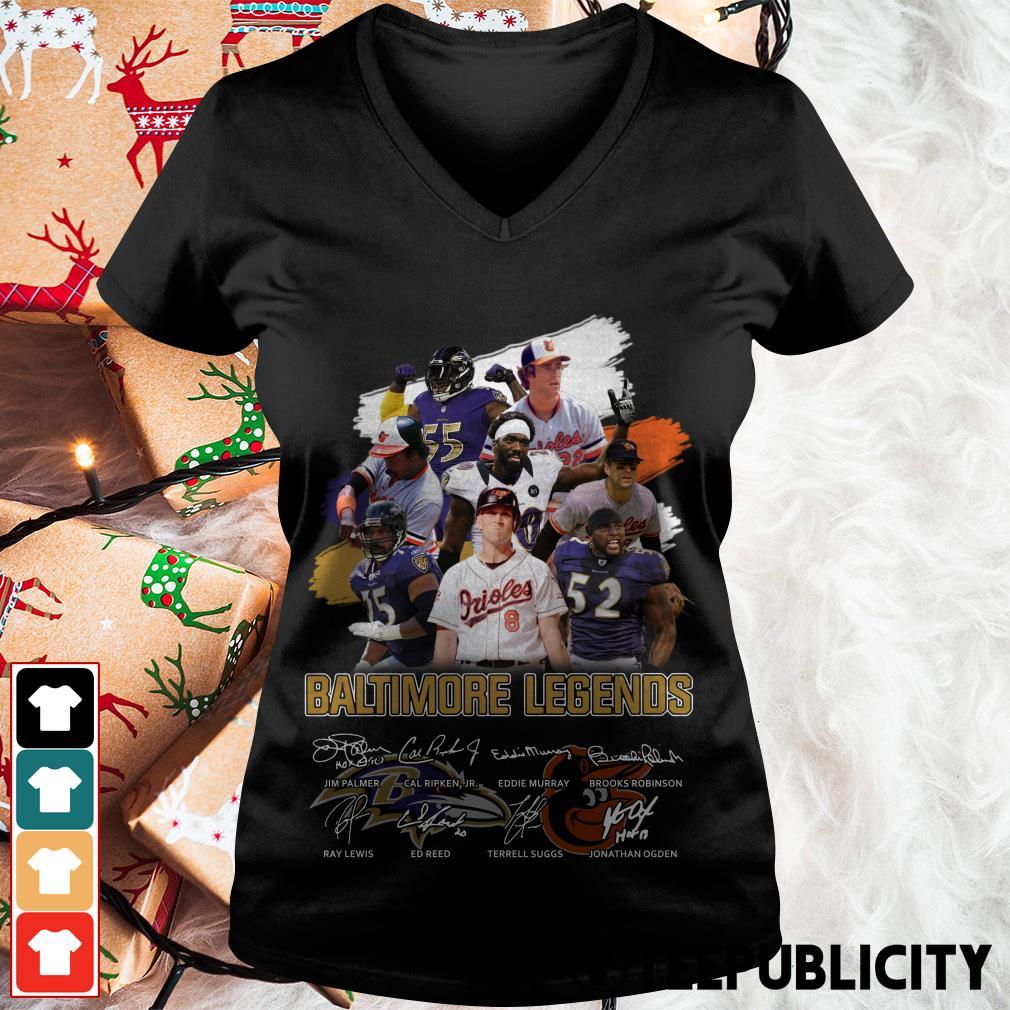Baltimore legends signatures V-neck T-shirt
