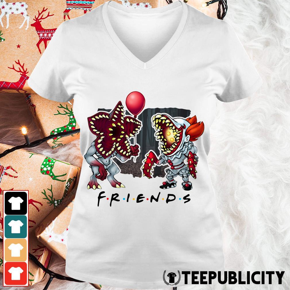 Demogorgon IT Pennywise Friends V-neck T-shirt