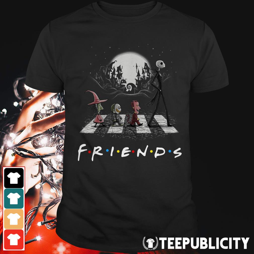 Friends The Nightmare Before Christmas Abbey Road shirt