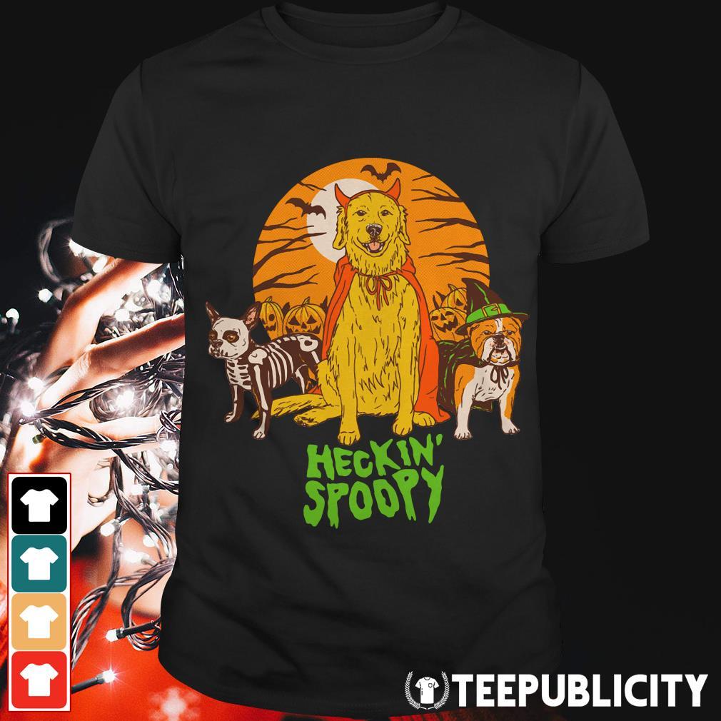 Halloween dog heckin spoopy shirt