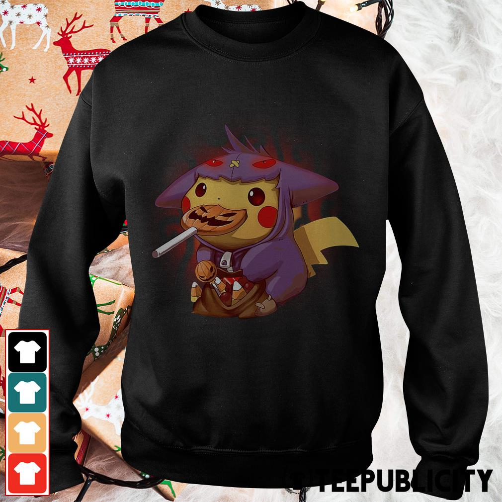 Halloween Pikachu in a Gengar Pokemon Sweater
