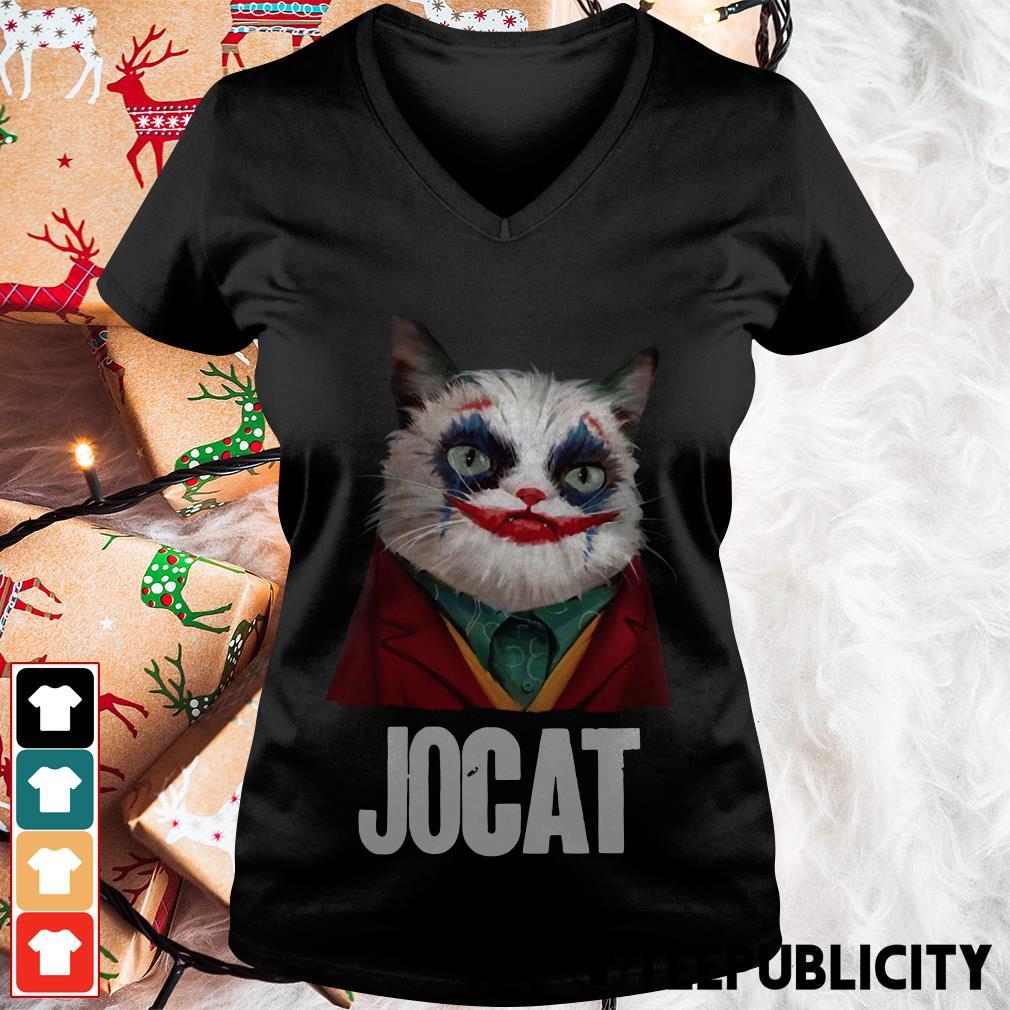 Jocat Joker cat funny V-neck T-shirt