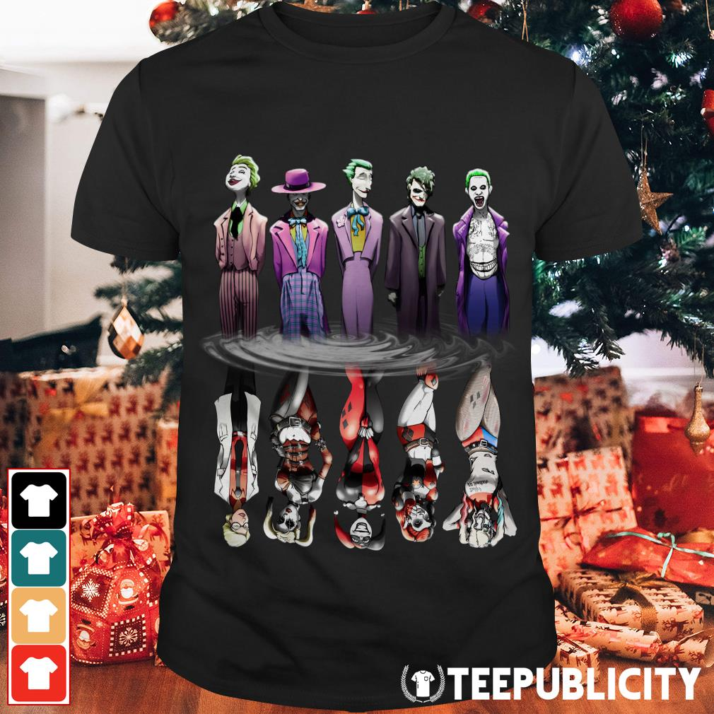 Joker And Harley Quinn Reflection Mirror Water shirt