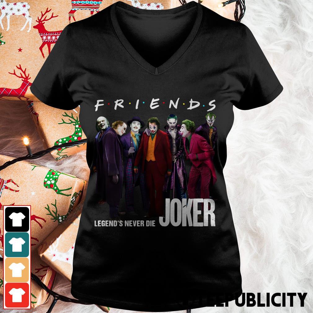 Joker Friends legends never die V-neck T-shirt