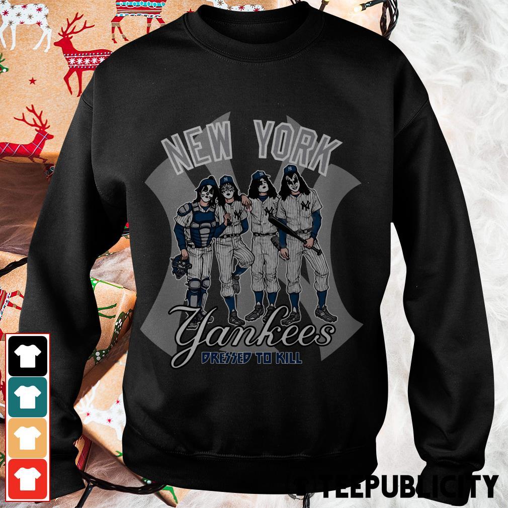 Kiss New York Yankees dressed to kill Sweater