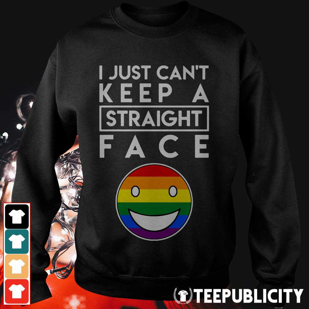 LGBT I just can't keep a straight face Sweater