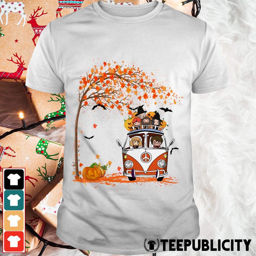 New York Yankees driving car Autumn leaf tree shirt