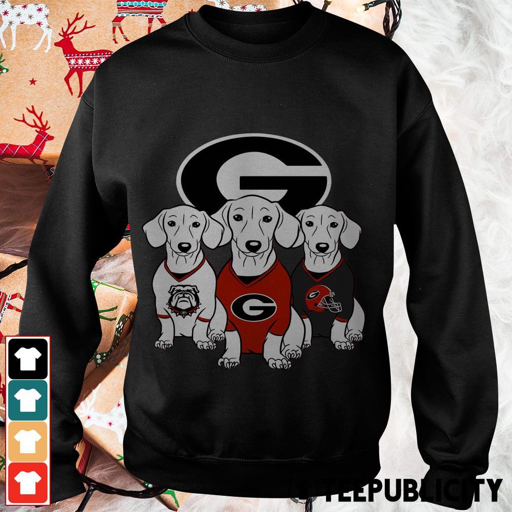 Official Dachshund Georgia Bulldogs Sweater