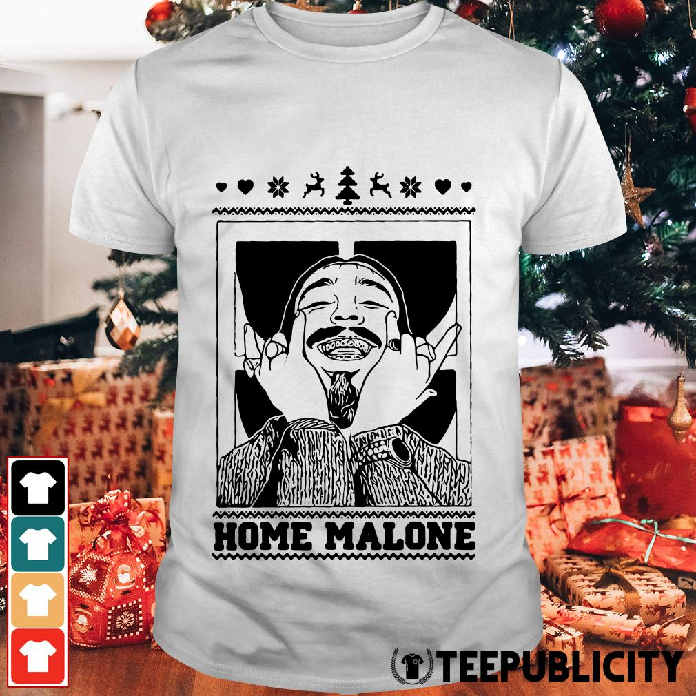 Official Post Malone Home Malone Christmas Shirt, Hoodie