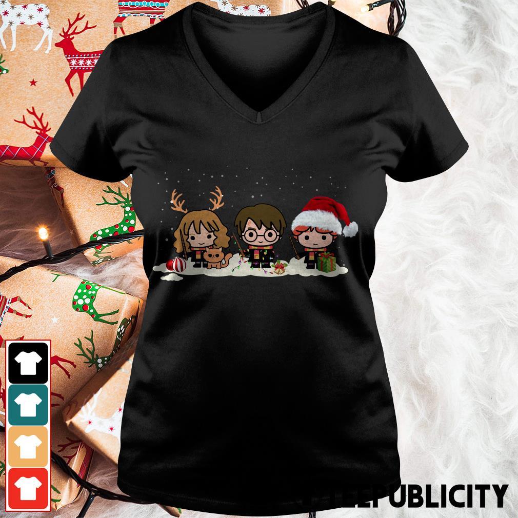 Official Santa Harry Potter chibi Christmas is coming V-neck T-shirt