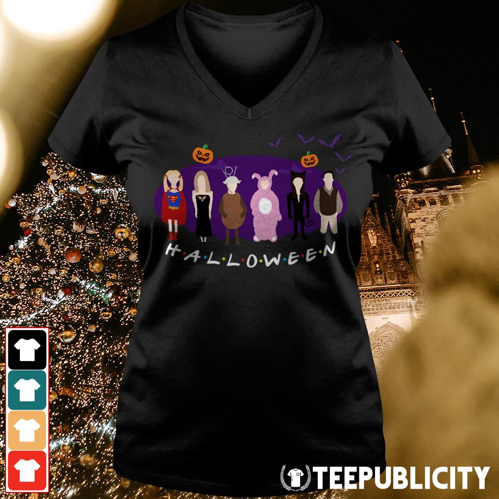 Official The One with the Halloween Party friends tv show V-neck T-shirt