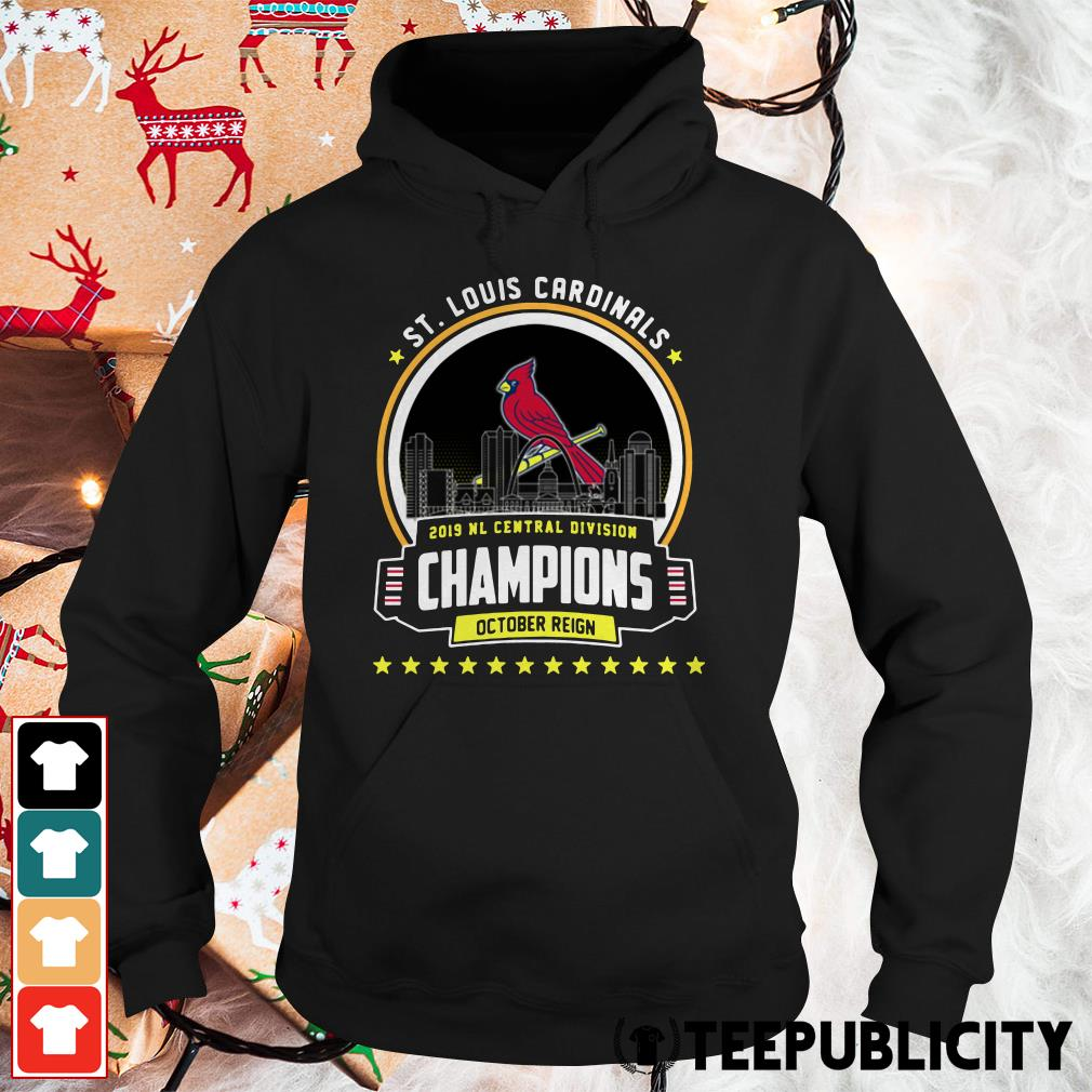 St. Louis Cardinals 2019 NL Central Division Champions October Reign Hoodie