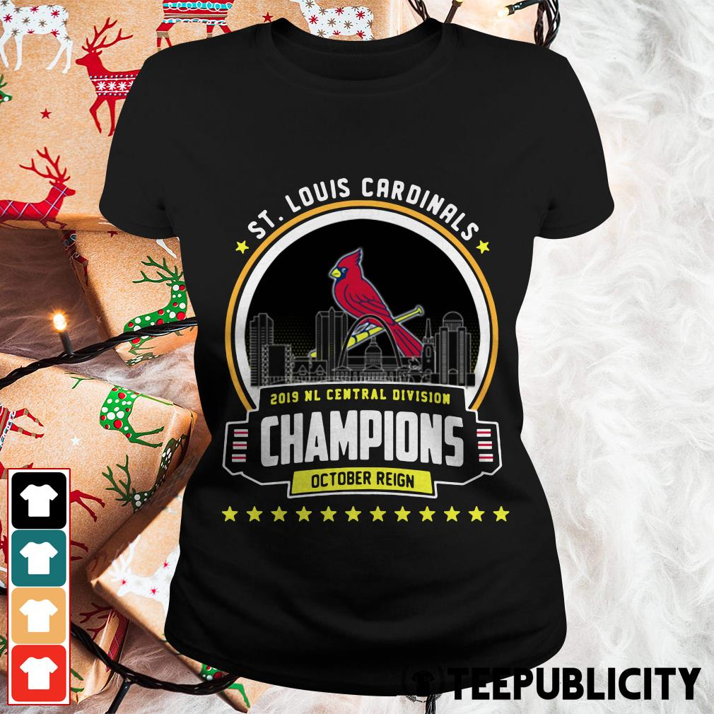 St. Louis Cardinals 2019 NL Central Division Champions October Reign Ladies Tee