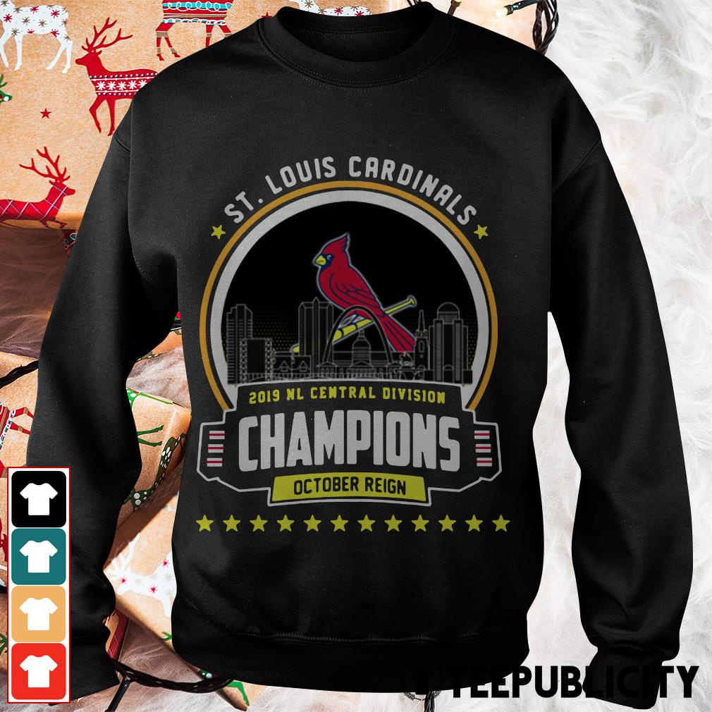St. Louis Cardinals 2019 NL Central Division Champions October Reign Sweater
