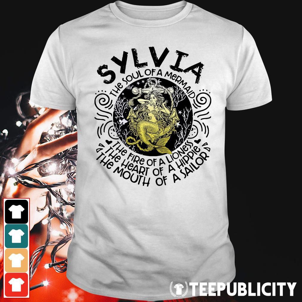 Sylvia girl the soul of a mermaid the fire of a lioness Guys Shirt