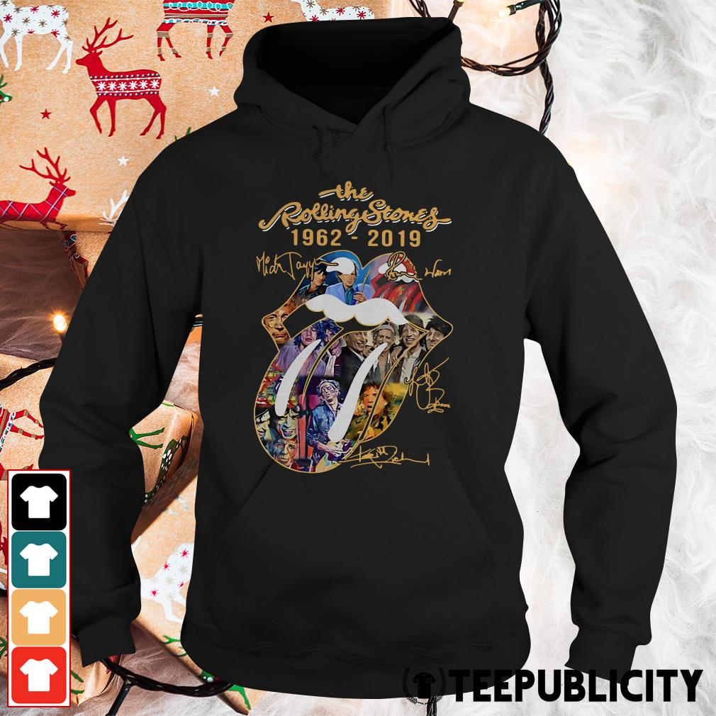 The Rolling Stones 1962-2019 Mick Jagger Ronnie Wood signatures Hoodie