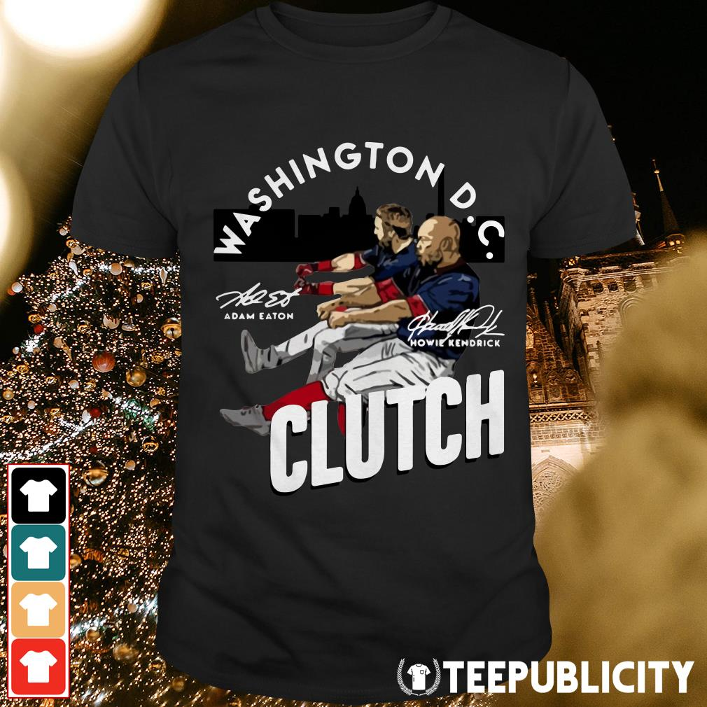 Adam Eaton Howie Kendrick Washington DC Clutch signatures shirt