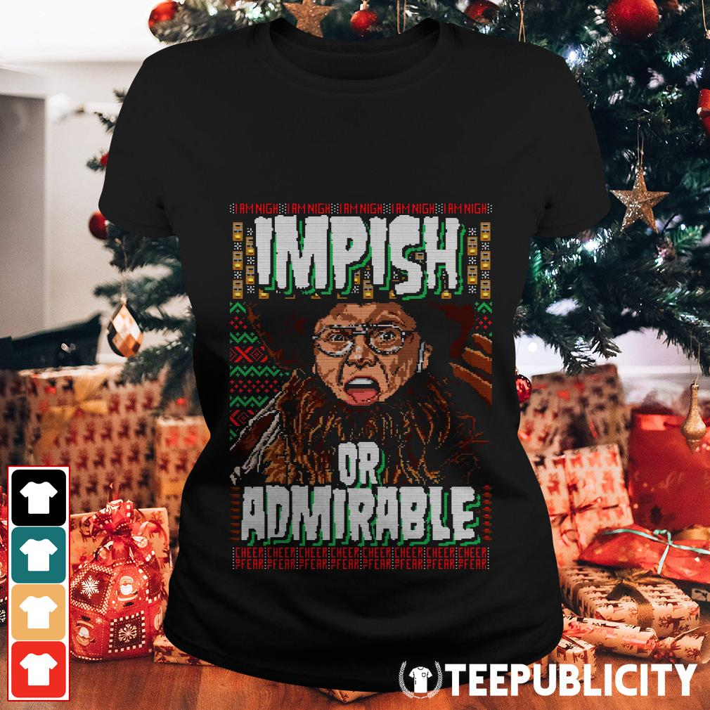 Belsnickel impish or admirable ugly Christmas Ladies Tee