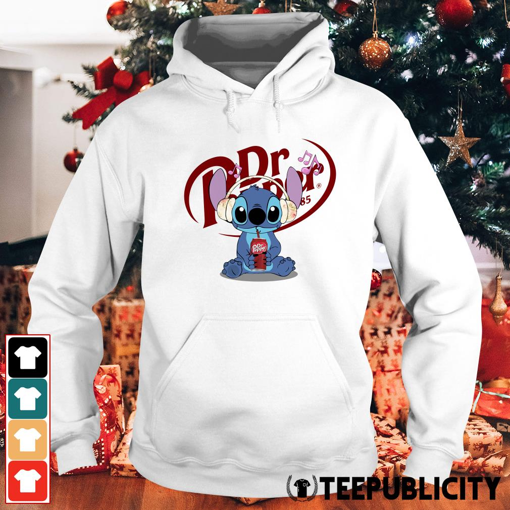 Official Stitch listen music drink Dr Pepper Hoodie