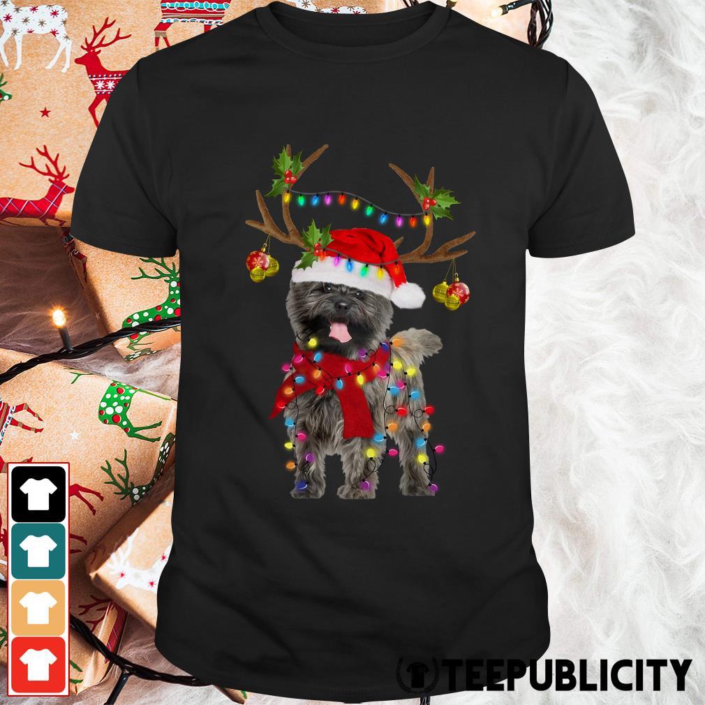 Cairn Terriers gorgeous reindeer Crewneck Guys Shirt