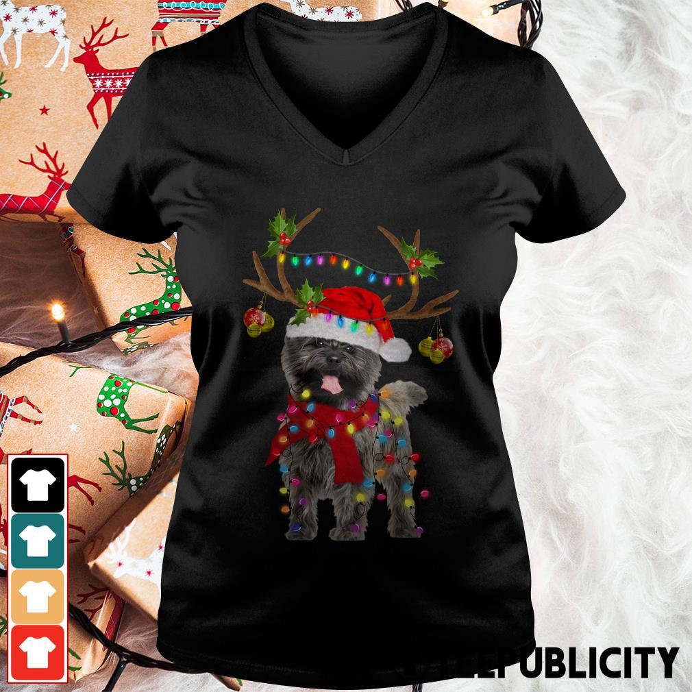 Cairn Terriers gorgeous reindeer Crewneck V-neck T-shirt
