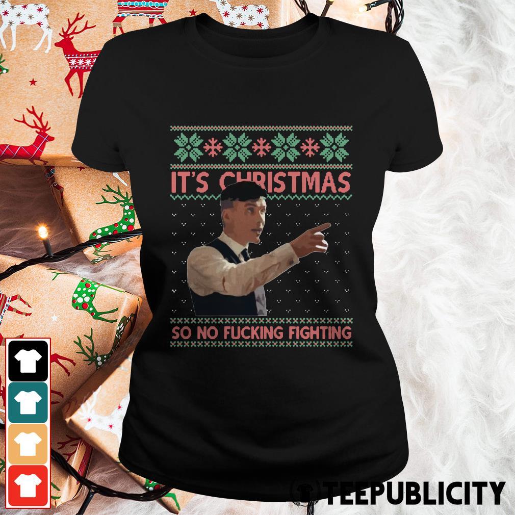 It's Christmas So no fuc' Fighting Sticker Ladies Tee
