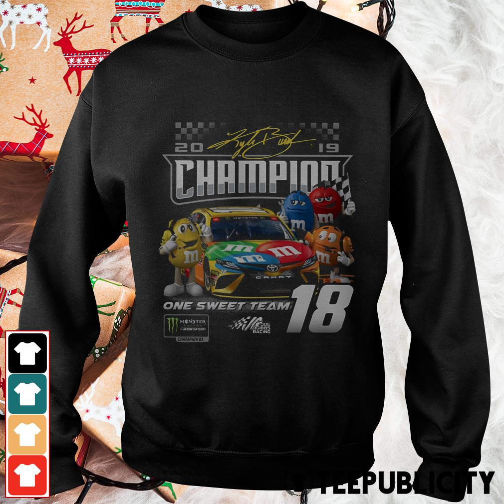 M'M's Kyle Busch Joe Gibbs one sweet team signatures Sweater