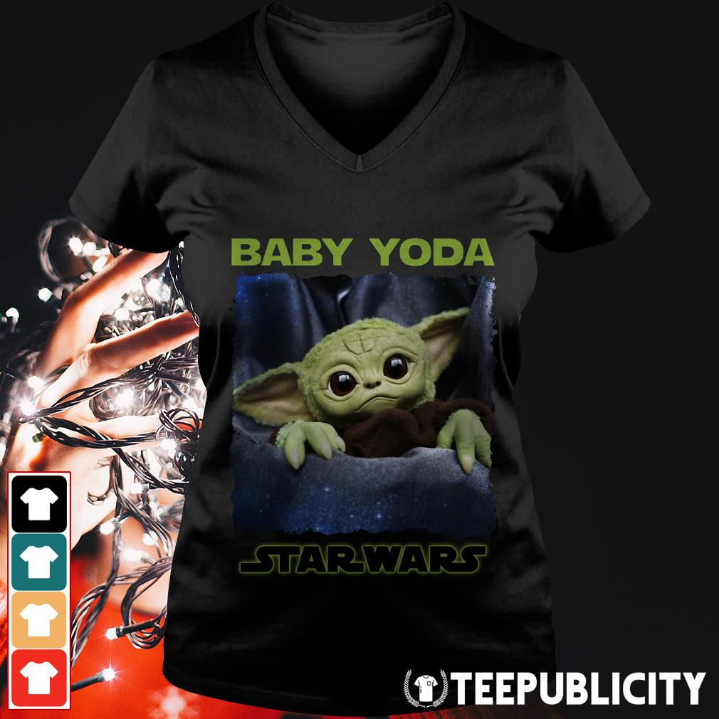Official Baby Yoda Cute Star Wars V-neck T-shirt