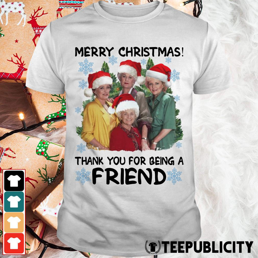 Official Golden girl merry Christmas thank you for being a friend Christmas Guys Shirt