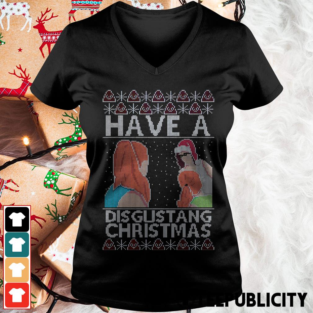 Official Have a Disgustang Christmas V-neck T-shirt