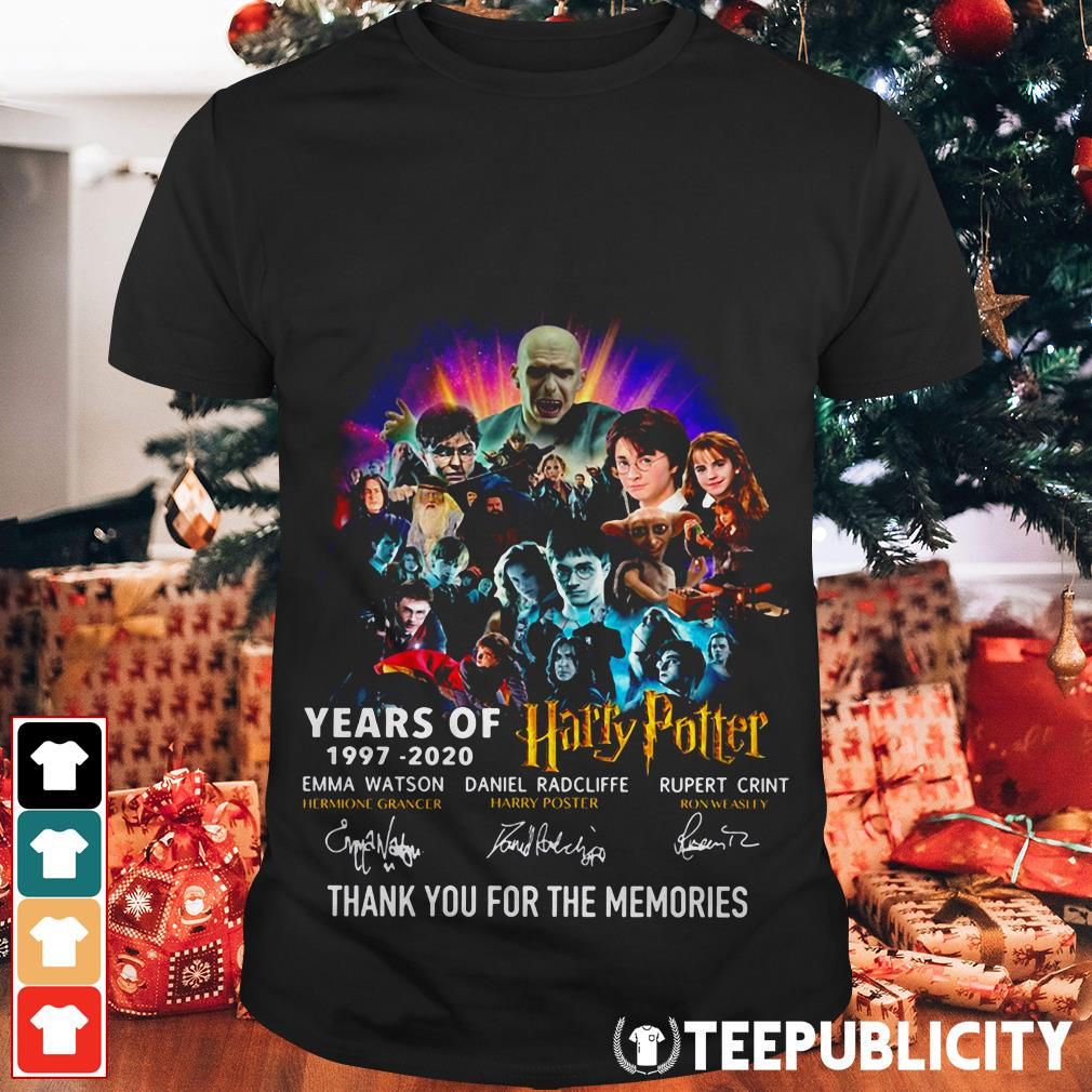 23 years of Harry Potter 1997-2020 thank you for the memories shirt