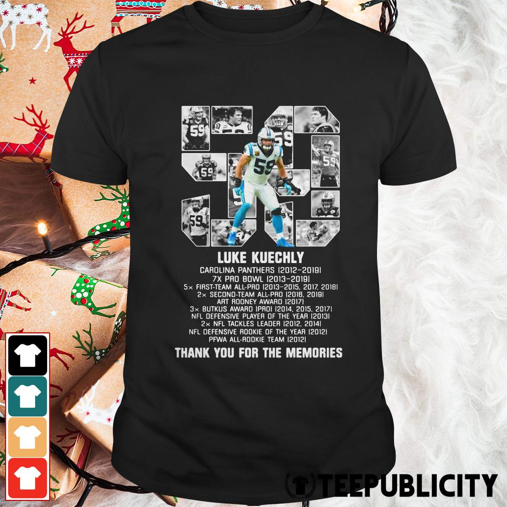 59 Luke Kuechly thank you for the memories shirt