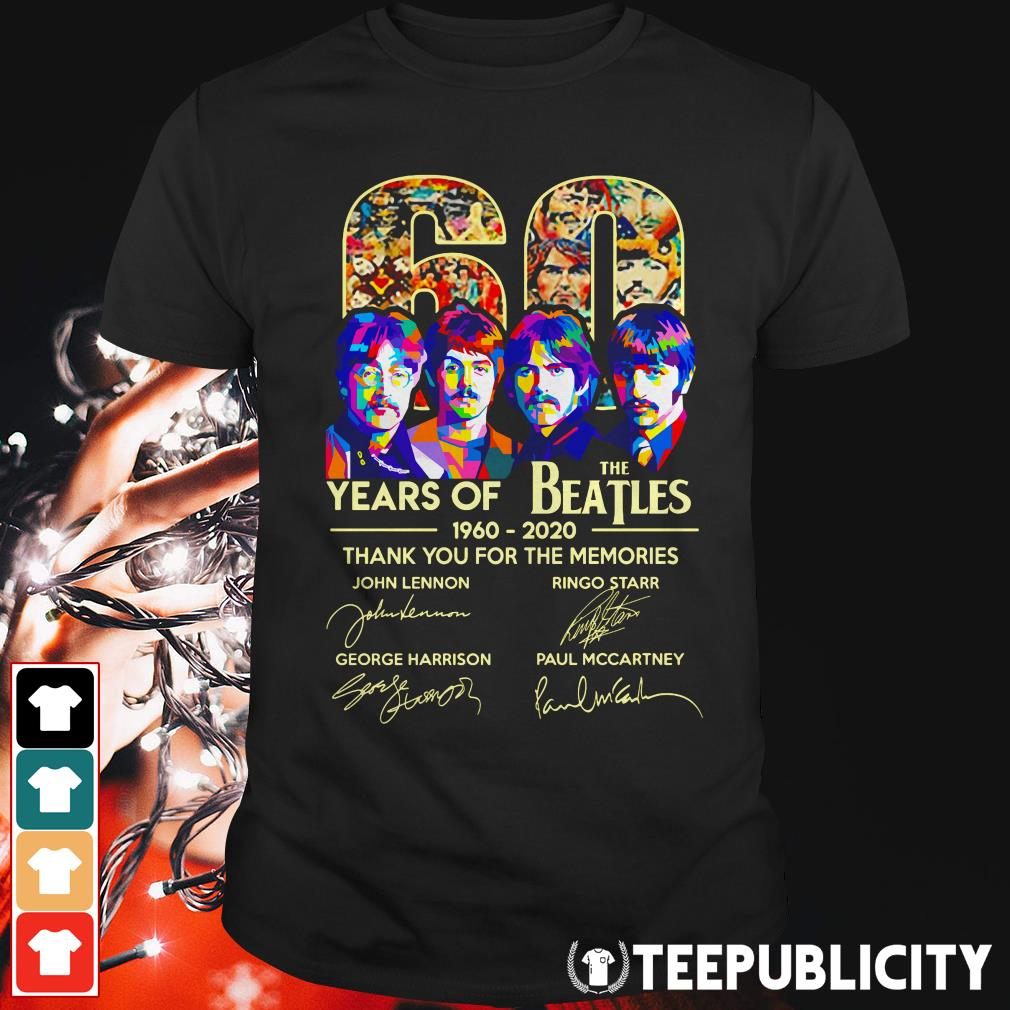 60 years of The Beatles thank you for the memories signature shirt
