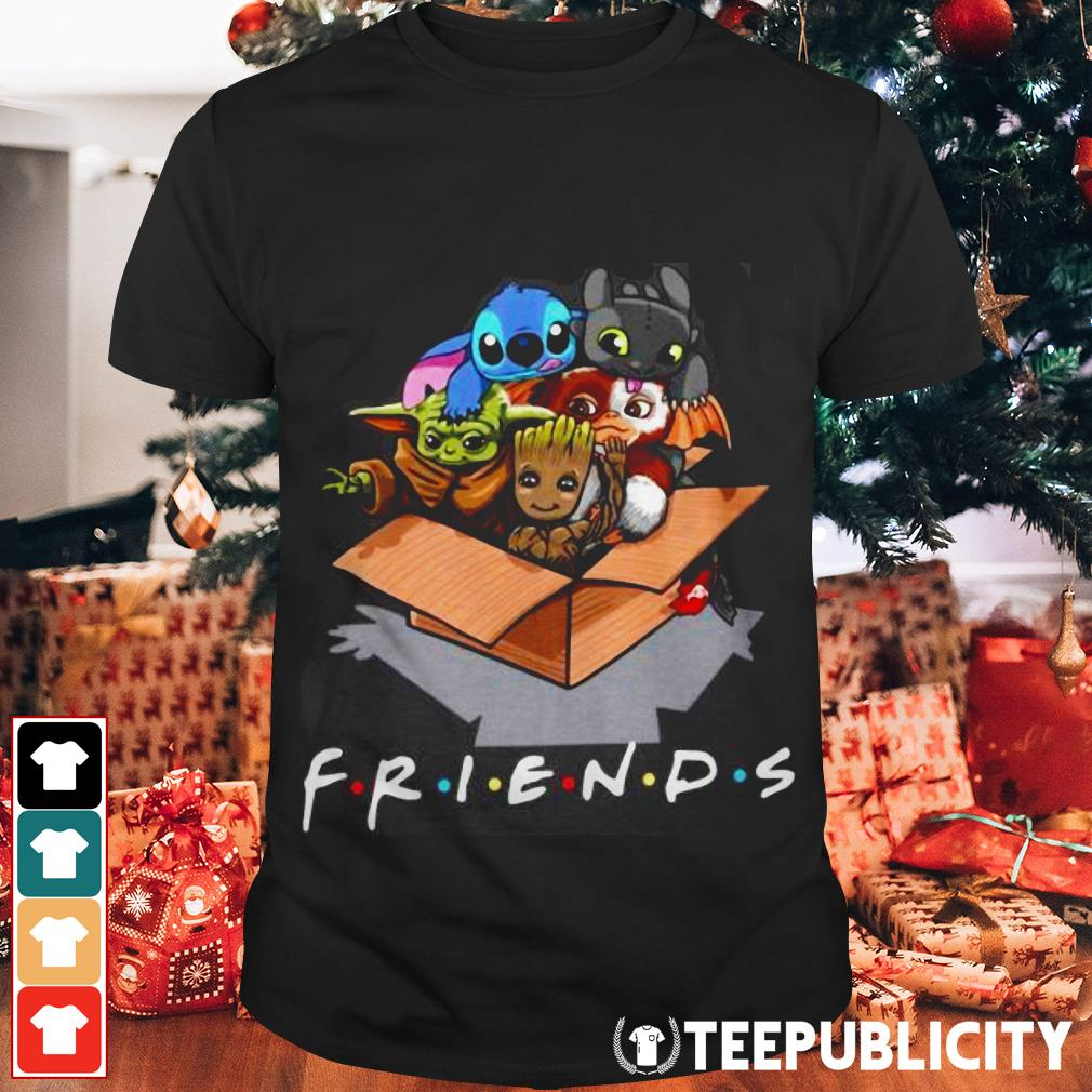 Baby Yoda Gizmo Groot Stitch and Toothless Fiends shirt