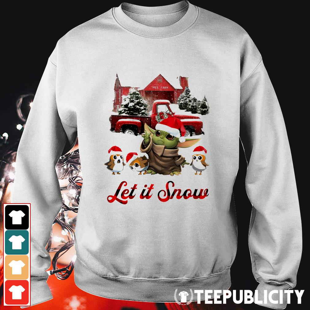 Baby Yoda let it snow Christmas Sweater