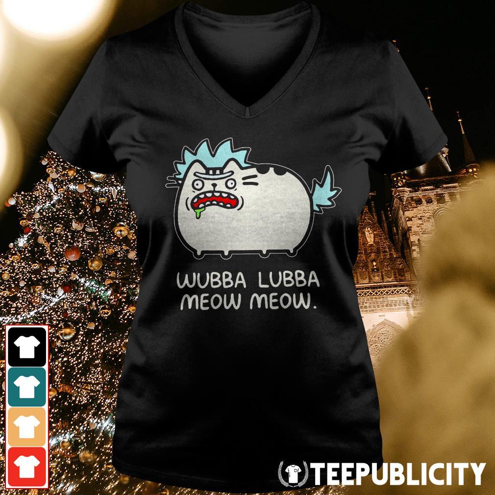 Rick Sanchez cat wubba lubba meow meow V-neck T-shirt