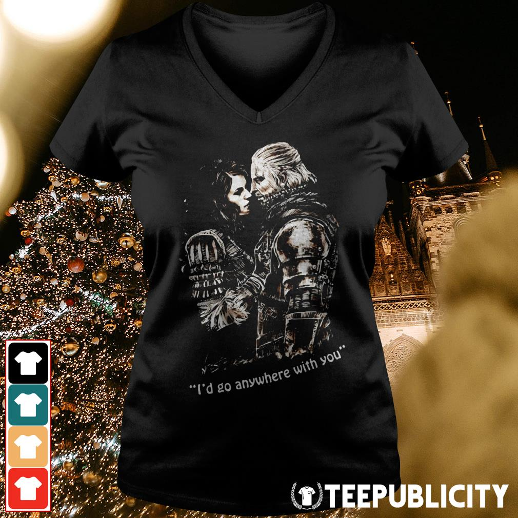 The Witcher I'd go anywhere with you V-neck T-shirt