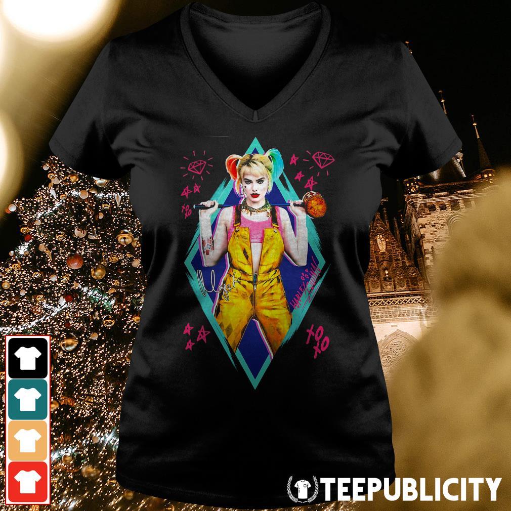 Birds of Prey Harley Quinn signature V-neck T-shirt